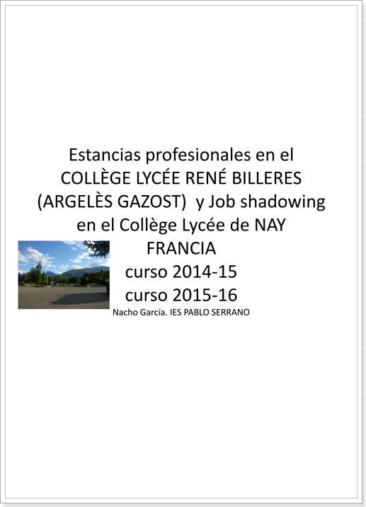 ERASMUS+ JOB SHADOWING (Francia)