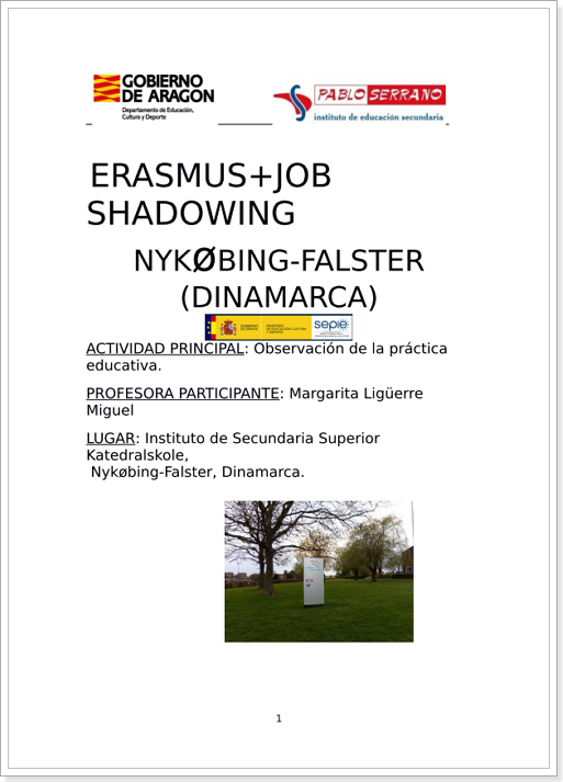 ERASMUS+ JOB SHADOWING (Dinamarca 2018)