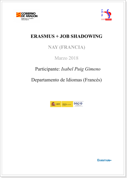 ERASMUS+ JOB SHADOWING (Nay 2018)