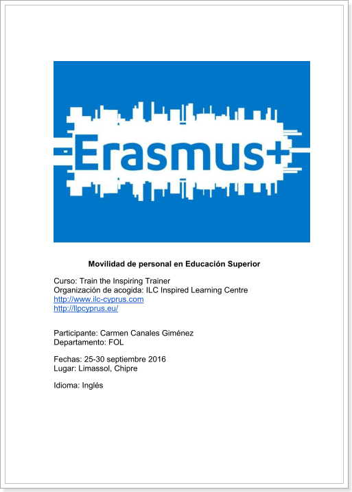 ERASMUS+ TEACHER TRAINING (Chipre)