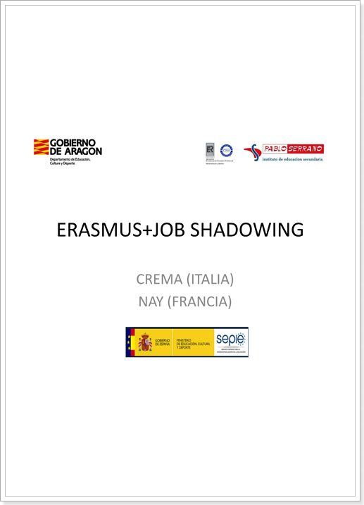 ERASMUS+ JOB SHADOWING (Italia)